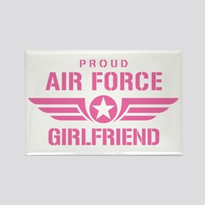 Proud Air Force Girlfriend W [pink] Rectangle Magn